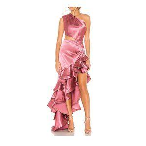Bronx & Banco Gown Rose Ruffled Dress